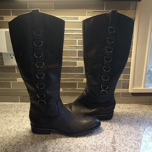 EUC Ann Taylor LOFT leather riding boots